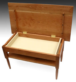 Shaker furniture to fit side tables for Coffee table with hinged top